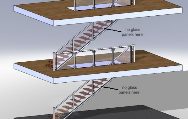 Architectural Design for Residential Stairs and Rails